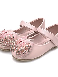cheap -Girls' Shoes Faux Leather Spring &  Fall Comfort / Light Soles Flats Rhinestone / Crystal / Bowknot for Kids Pink / Sparkling Glitter / Party & Evening