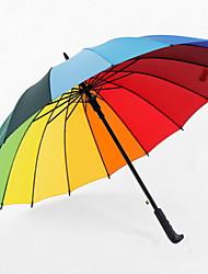 baratos -Poliéster / Aço Inoxidável Todos Reciclável Guarda-chuva Reto