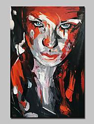 Недорогие -mintura® ручная роспись современный абстрактный нож девушка пейзаж живопись маслом на холсте картина на стенах для домашнего декора, готовая повесить
