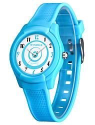Недорогие -SYNOKE Муж. Жен. Спортивные часы электронные часы Японский Японский кварц Стеганная ПУ кожа Черный / Белый / Синий 50 m Защита от влаги Очаровательный Аналоговый Цифровой Мода - Черный Синий Розовый