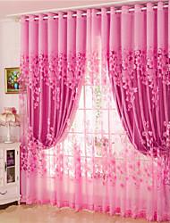 Недорогие -шторы шторы две панели гостиная цветочные 100% полиэстер жаккард