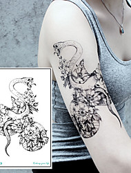 Недорогие -3 pcs Временные татуировки Тату с животными / Тату с цветами Гладкий стикер / Безопасность Искусство тела рука / плечо / Временные татуировки в стиле деколь