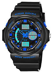 Недорогие -SYNOKE Муж. электронные часы Японский Календарь / Секундомер / Защита от влаги PU Группа Мода Черный / Фосфоресцирующий