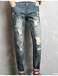 baratos -Homens Básico / Moda de Rua Jeans Calças - Letra