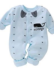 abordables -bébé Garçon Basique Imprimé Manches Longues Coton Une-Pièce