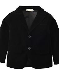 billiga -Barn / Småbarn Pojkar Aktiv / Grundläggande Dagligen / Helgdag Enfärgad Långärmad Normal Bomull / Polyester Kostym och blazer Svart Pojke 120