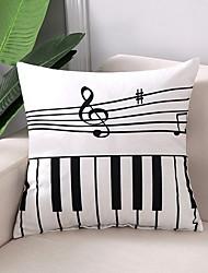 cheap -1 pcs Cotton / Linen Pillow Case, Grid / Plaid Patterns Simple / Geometric