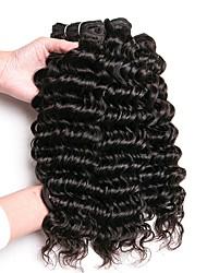 Недорогие -3 Связки Индийские волосы Монгольские волосы Крупные кудри 8A Натуральные волосы Необработанные натуральные волосы Подарки Косплей Костюмы Человека ткет Волосы 8-28 дюймовый Естественный цвет