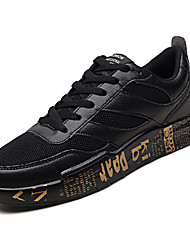 baratos -Homens sapatos Couro de Porco Outono Conforto Tênis Branco / Preto / Bege