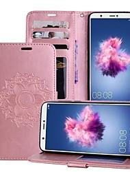 economico -Custodia Per Huawei P smart / Enjoy 7S Porta-carte di credito / Con supporto / Con chiusura magnetica Integrale Fiori Mandala Resistente pelle sintetica per P smart / Huawei Enjoy 7S