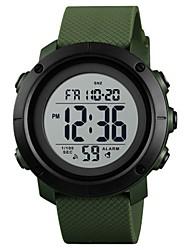 Недорогие -SKMEI Муж. Для пары Спортивные часы электронные часы Цифровой Стеганная ПУ кожа Черный / Цвет клевера 50 m Защита от влаги Секундомер Хронометр Цифровой На каждый день Мода -