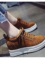 abordables -Femme Chaussures de confort Daim Printemps & Automne Basket Creepers Noir / Marron