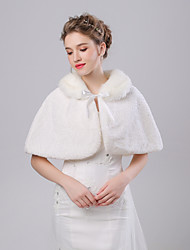 cheap -Sleeveless Faux Fur Wedding / Birthday Women's Wrap With Lace-up Capelets