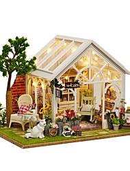 Недорогие -Кукольный домик обожаемый Милый Своими руками Романтика Мебель деревянный Современный Кошка 1 pcs Детские Взрослые Девочки Игрушки Подарок