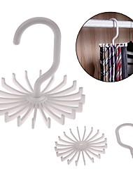 baratos -Suportes ajustáveis 20 gravata cabide cinto rotativo rack lenço organizador homens