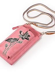 Недорогие -Жен. Мешки PU Мобильный телефон сумка Узоры / принт Красный / Розовый / Лиловый