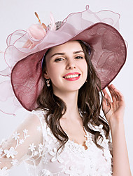 9e58c19de97 Women s Vintage   Holiday Chiffon   Lace Bucket Hat   Floppy Hat   Sun Hat  - Solid Colored   Floral Ruffle   Mesh   All Seasons