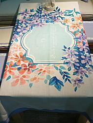 Недорогие -Современный Нетканые Квадратный Скатерти Цветочный принт Геометрический принт Настольные украшения 1 pcs