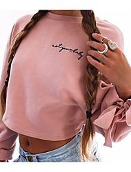 baratos -hoodie longo da luva das mulheres que sai - letra em volta do pescoço