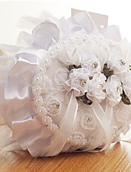 cheap -Fabrics Imitation Pearl / Lace / Sashes / Ribbons Satin Ring Pillow Beach Theme / Garden Theme / Butterfly Theme All Seasons