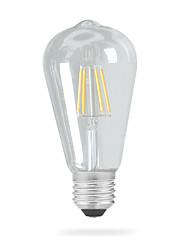 Недорогие -1шт 4 W 320 lm E26 / E27 LED лампы накаливания ST64 4 Светодиодные бусины COB Декоративная Тёплый белый 220-240 V / 110-120 V / 1 шт. / RoHs