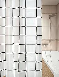 abordables -Rideaux de douche et anneaux Moderne PEVA Géométrique Fabrication à la machine Imperméable / Design nouveau Salle de Bain