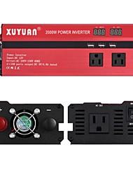 economico -XUYUAN Motocicletta / Auto Invertitore di potenza DC 12V-AC 110V 110 V 2000 W Per Universali / Moto Motori generali