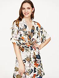 cheap -Women's Holiday / Going out Street chic Shirt Dress - Floral Print V Neck / Summer
