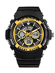 Недорогие -SANDA Муж. Спортивные часы электронные часы Японский Цифровой 30 m Защита от влаги Календарь Хронометр Plastic Группа Аналого-цифровые Роскошь Мода Черный - Красный Синий Золотистый