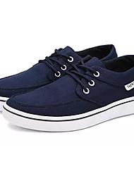 Недорогие -Муж. Комфортная обувь Полотно Осень Кеды Черный / Серый / Синий