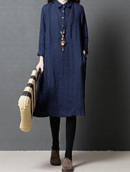 Недорогие -Жен. Маленькое черное Платье - Полоски Средней длины