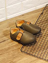 Недорогие -Мальчики / Девочки Обувь Искусственная кожа Весна & осень Обувь для малышей Кеды На липучках для Дети Черный / Зеленый / Верблюжий