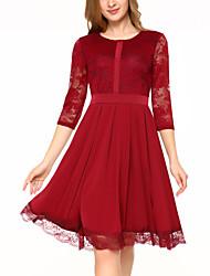 baratos -vestido de skatista de algodão de festa das mulheres cintura alta acima do joelho