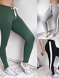 cheap -Women's Patchwork Yoga Pants - Black, Gray, Green Sports Color Block Tights Fitness, Gym Activewear Compression, Push Up High Elasticity
