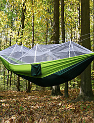 cheap -Camping Hammock with Mosquito Net Outdoor Portable, Moistureproof, Well-ventilated Spinning Cotton for Camping / Hiking / Hunting / Hiking
