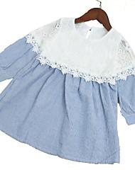 levne -Děti Dívčí Patchwork Dlouhý rukáv Šaty