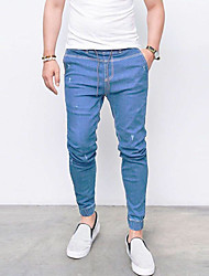 cheap -Men's Cotton / Linen Jeans Pants - Solid Colored