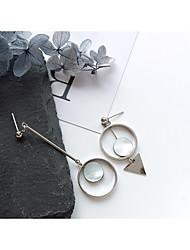 abordables -Mujer Geométrico / No coincidente cuelga los pendientes / Pendientes sin combinar - Bola Elegante, Diseño Único Plata Para Cita / Trabajo