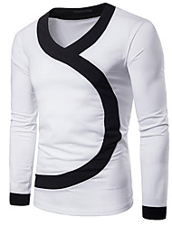 preiswerte -Herrn Solide - Aktiv T-shirt Patchwork