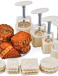 Недорогие -Инструменты для выпечки пластик / Металл Cool / Многофункциональный Торты Круглый / Квадратный Формы для пирожных 16шт