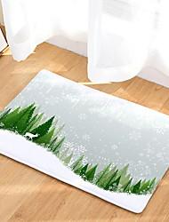 abordables -paillassons de Noël, flanelle de Noël, tapis rectangulaire de qualité supérieure / antidérapant