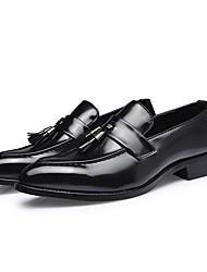 preiswerte -Herrn Formal Schuhe Kunstleder Herbst Winter Geschäftlich Loafers & Slip-Ons Tragen Sie Beweis Einfarbig Gelb / Silber / Rot / Party & Festivität