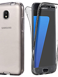 economico -Custodia Per Samsung Galaxy J7 (2017) / J5 (2017) Transparente Integrale Tinta unita Morbido TPU per J7 (2017) / J6 / J5 (2017)