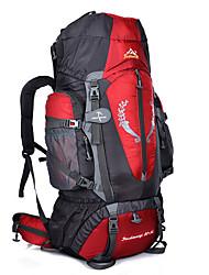 Недорогие -80+5 L Рюкзаки / Заплечный рюкзак - Дожденепроницаемый, Пригодно для носки, Воздухопроницаемость На открытом воздухе Пешеходный туризм, Восхождение, Путешествия Нейлон Зеленый, Синий, Темно-синий