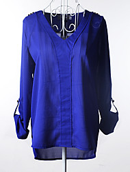 cheap -Women's Business / Basic Blouse - Solid Colored Beaded