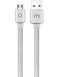 cheap -MEIZU Micro USB 2.0 to USB 2.0 Male - Female 1.2m(4Ft) Braid