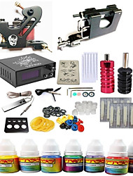cheap -Tattoo Machine Starter Kit - 2 pcs Tattoo Machines with 7 x 10 ml tattoo inks, Voltage Adjustable, Dynamics Adjustable, Kits Alloy External power supply Case Not Included # 1 rotary machine liner