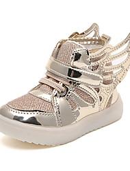 abordables -Fille Chaussures Maille / Polyuréthane Printemps & Automne / Printemps été Confort Basket Marche Creuse / Scotch Magique pour Enfants Or / Argent / Rose