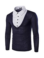 billige -Herre - Farveblok Aktiv / Gade T-shirt