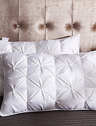 Недорогие -удобная-превосходная постельная подушка для кровати удобная подушка 100% белый гусь + натуральный каучук 100% хлопок
